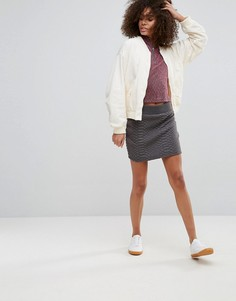 Стеганая юбка QED London - Серый