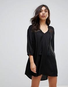 Платье-туника с вышивкой Vero Moda - Черный