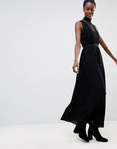 Платье макси с кружевом Deby Debo Sochic - Черный