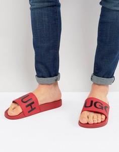 Красные шлепанцы с логотипом HUGO - Красный