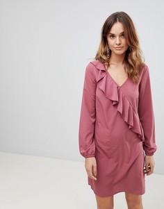 Платье с оборками Vila - Розовый