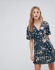 Платье с цветочным принтом и запахом Band Of Gypsies - Мульти