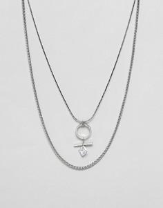 Ожерелье со стразами Nylon - Серебряный