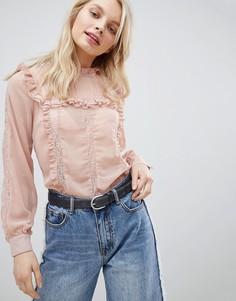 Блузка с оборками Glamorous - Розовый