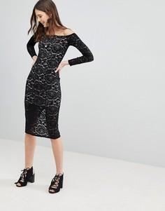 Кружевное платье Glamorous - Черный