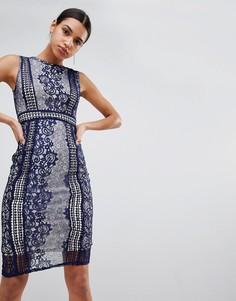 Кружевное премиум-платье миди AX Paris - Мульти