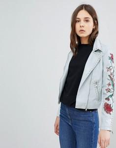 Байкерская куртка с вышивкой Glamorous - Синий