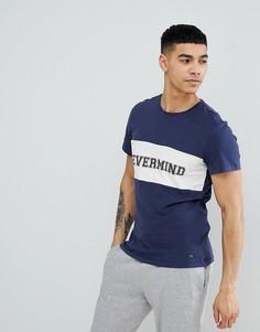 Темно-синяя футболка Blend Nevermind - Темно-синий