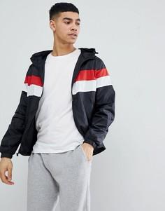 Куртка с капюшоном и полоской на груди Blend - Черный