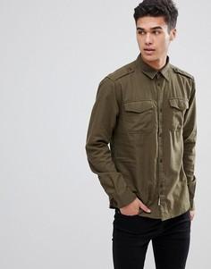 Рубашка в стиле милитари Bellfield - Зеленый