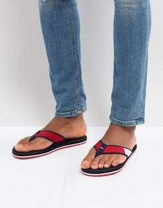 Красно-бело-синие пляжные шлепанцы Tommy Hilfiger - Мульти