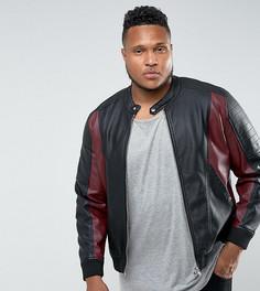 Куртка из искусственной кожи Barneys Originals PLUS - Черный