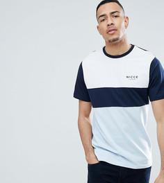 Синяя футболка со вставками Nicce London TALL эксклюзивно для ASOS - Темно-синий