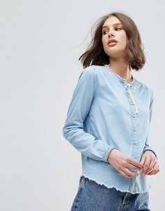 Блузка с вышивкой и кисточками Pepe Jeans - Синий