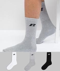 3 пары спортивных носков Russell Athletic - Мульти