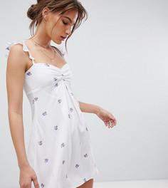 Эксклюзивное платье мини со спущенными плечами Flynn Skye - Фиолетовый