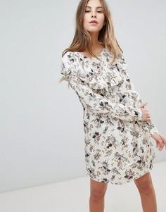Платье с принтом Vila - Белый