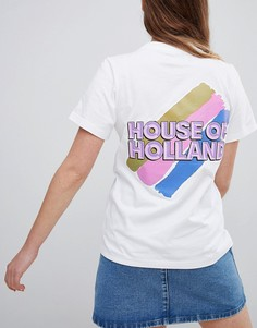 Футболка с логотипом House Of Holland - Белый