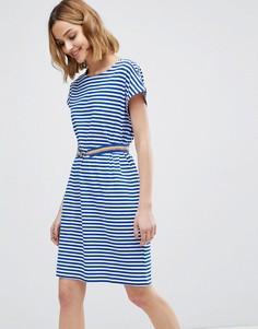 Платье в полоску с поясом M.i.h - Синий MiH Jeans