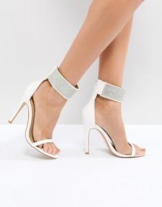 Босоножки на каблуке с декоративной отделкой Truffle Collection - Белый