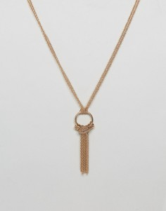 Золотистое ожерелье с подвеской Steve Madden - Золотой