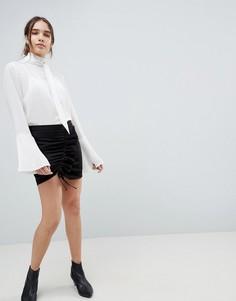 Мини-юбка со сборками Minimum - Черный
