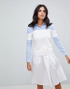 Рубашка и топ с открытыми плечами 2-в-1 The English Factory - Синий