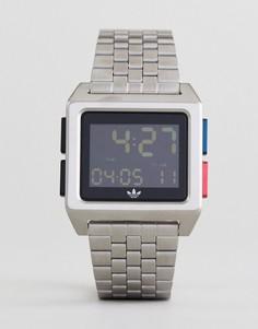 Серебристые наручные часы Adidas Z01 Archive - Серебряный
