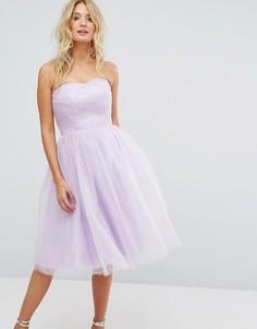 Платье-бандо из тюля Hell Bunny - Фиолетовый
