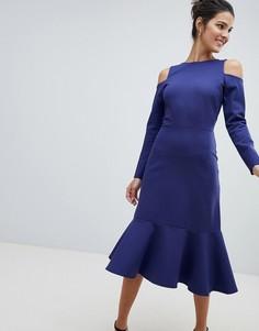 Платье с открытыми плечами Closet - Синий