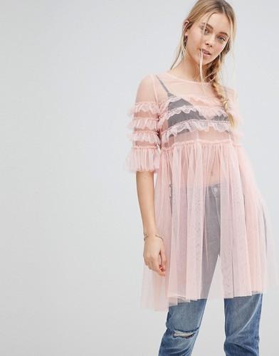 Сетчатое платье Glamorous - Розовый