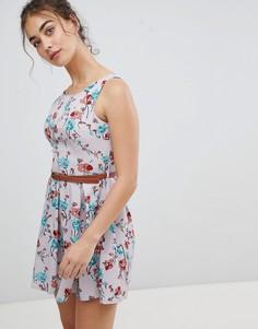 Короткое приталенное платье Glamorous - Мульти