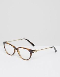Очки с прозрачными стеклами в черепаховой оправе Michael Kors - Коричневый