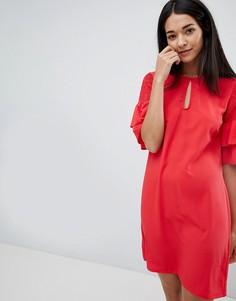 Платье с вырезом капелькой и ярусными рукавами Vila - Розовый