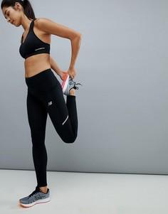 Черные леггинсы New Balance Running - Черный