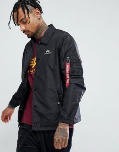 Черная спортивная куртка Alpha Industries TT - Черный