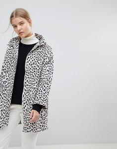 Макинтош с леопардовым принтом Max&Co - Коричневый