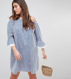 Платье в полоску с цветочным принтом Lovedrobe - Мульти
