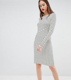 Платье-свитер в полоску Y.A.S Tall - Белый