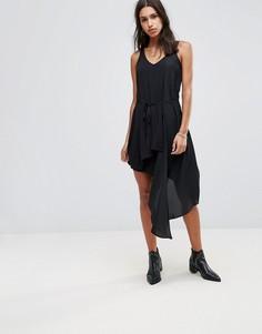 Асимметричное платье Religion Iris - Черный