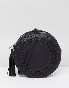 Круглая сумка через плечо Liquorish - Черный