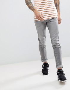 Серые эластичные джинсы скинни LDN DNM - Серый