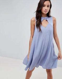 Свободное платье с вырезом Bellfield Amor - Синий