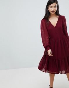 Фактурное платье Soaked In Luxury - Красный