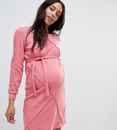 Фактурное платье-свитшот Mamalicious - Серый Mama.Licious