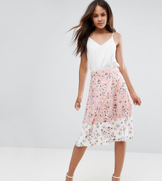 Юбка миди с цветочным принтом Vesper Tall - Розовый