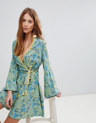 Платье с запахом и цветочным принтом Influence - Мульти