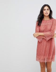 Свободное кружевное платье Hazel - Розовый