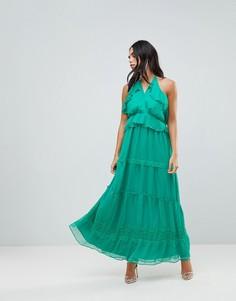 Платье макси с оборками Adelyn Rae - Зеленый