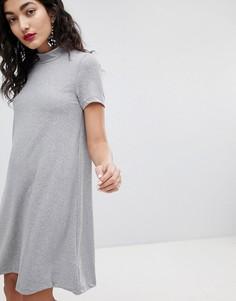 Платье-трапеция с высокой горловиной Vero Moda - Серый